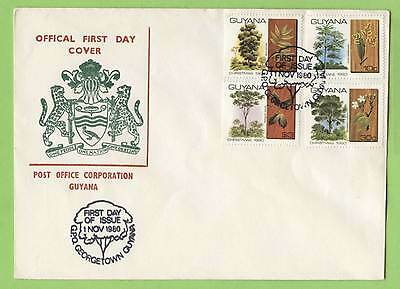 Guyana 1980 Christmas. Trees and Foliage First Day Cover