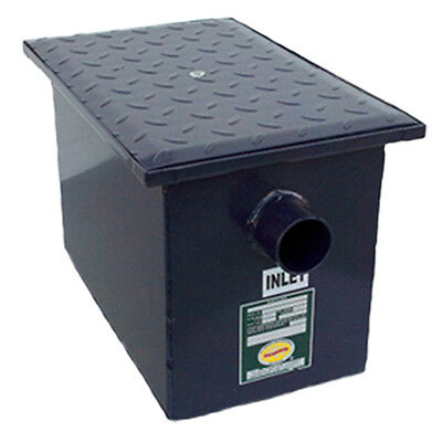New Commercial Kitchen 8 lb Grease Trap Interceptor- 4 G.P.M.