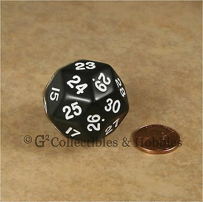 NEW Black D30 Opaque 30 Sided Dice D&D RPG Game Koplow