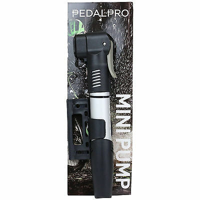 Pedalpro Twin Section Mini Alloy Bike/cycle/mtb Hand Pump Presta/schrader Valve