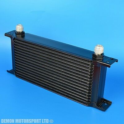 16 Row Oil Cooler Black An -10 Male All Aluminium For Competition Motorsport New