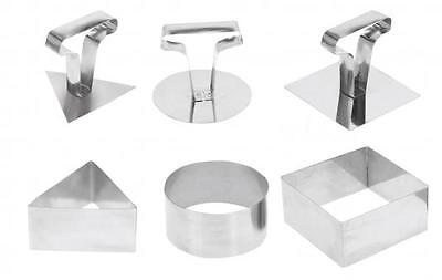 Set of 3 Stainless Steel Non-Stick Cooking Ring Party Food Sandwich Cutter