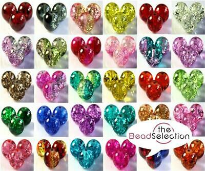 CRACKLE GLASS BEADS BUY 3 GET 3 FREE ROUND 4mm 100x 6mm 50x 8mm 25x 10mm
