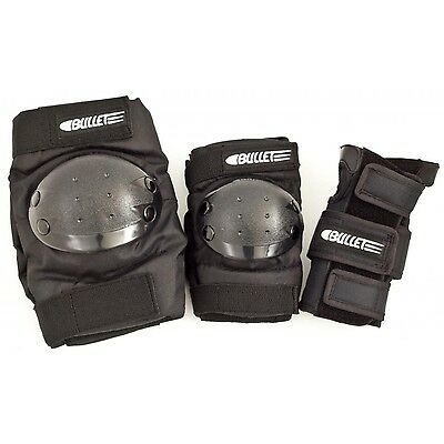 Bullet Combo Standard Pads - Protective Knee, Elbow, Wrist Gear - Black - Junior