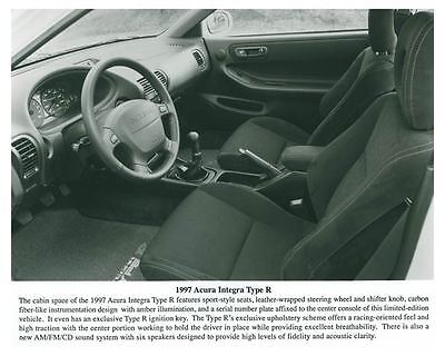 1997 Acura Integra Type R Interior Automobile Photo Poster zch5684