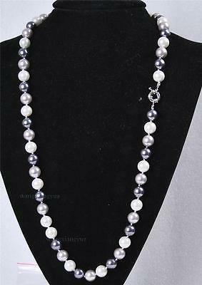"""Long 24""""10mm South Sea Shell Pearl Round Beads Gemstones Necklace AAA Y033"""