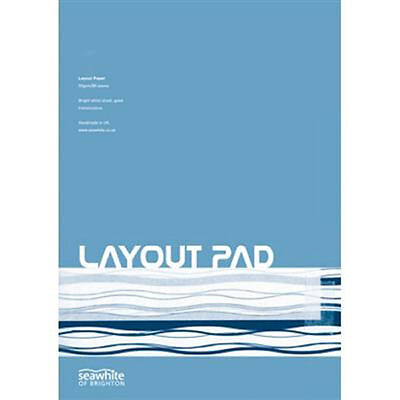 Seawhite Artists Layout Paper Pad A3 50gsm.80 sheets.For Art & Graphic Drawing