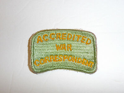 c0432 WW2 Australian Accredited War Correspondent patch