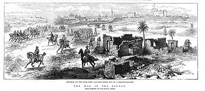 SUDAN View of Suakin from the Land Side - Antique Print 1884