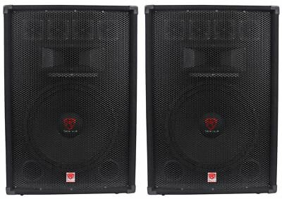 "(2) Rockville RSG15.4 15"" 3-Way 1500 Watt 4-Ohm Passive DJ/Pro Audio PA Speakers"