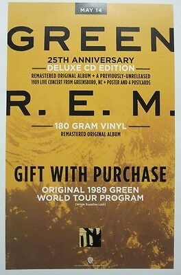 R.E.M. 2013 GREEN 25th anniversary promotional poster ~NEW & MINT condition~!