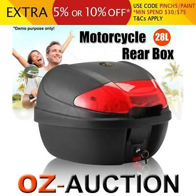 S 28L Motorcycle Universal Scooter Top Tail Box Rear Storage Two Sets of Keys