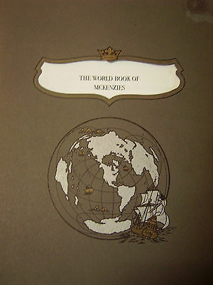 MCKENZIES, THE WORLD BOOK OF: Rare Genealogy History Reference  large s/c.