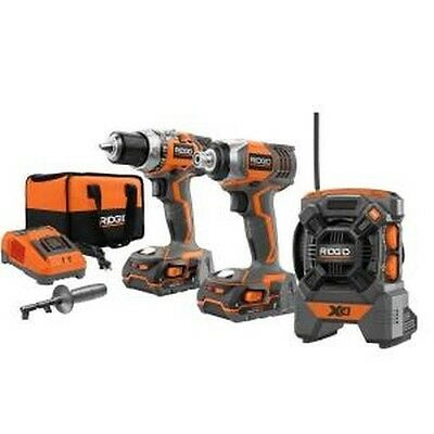 Ridgid 18V Compact Drill and Impact Driver Combo Kit with Radio (R9601)
