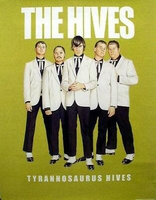 THE HIVES 2004 Tyrannosaurus Hives cover promo poster Flawless New Old Stock