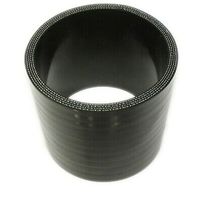 """BLACK Silicone Hose Coupler 63mm Straight (2.5"""" Inch Silicon) Joiner"""