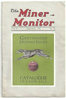 1916 Catalog MINER MONITOR GREYHOUND SHOES Tennis Yachting Illustrated Prices