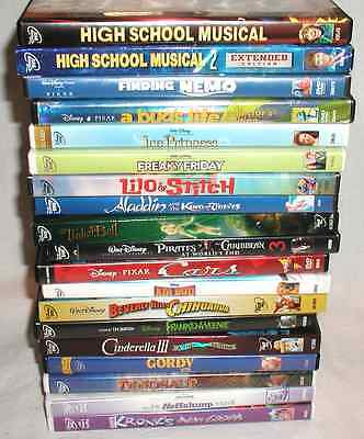 Lot of 19 Walt Disney Family/Children DVD Movies - All Are Disney!
