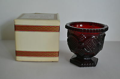 Avon 1876 Cape Cod Ruby Red Cranberry Footed Sugar Bowl