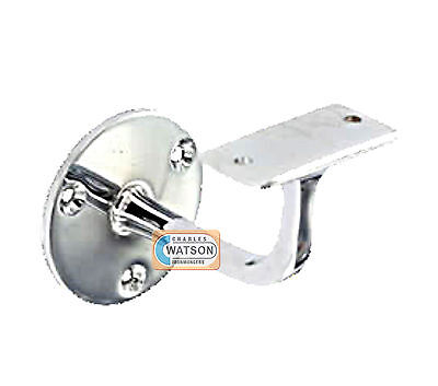 """PACK 4 63mm 2.1/2"""" CP CHROME PLATED HANDRAIL Bracket Staircase Banister Support"""