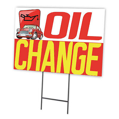 Oil Change Full Color Double Sided Sidewalk Signs