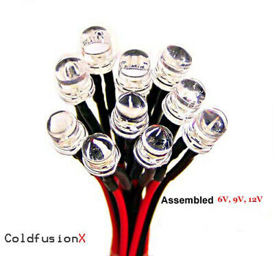 20x Ready 12V 10mm Green LED good for car boat and motorcycle