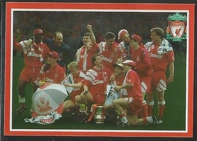 Panini 2009 Liverpool sticker collection #185 1991-92 F.A. Cup Final
