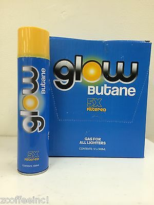 NEW 24 cans GLOW brand 5x lighter fluid butane fuel Torch Lighter Refill POWER