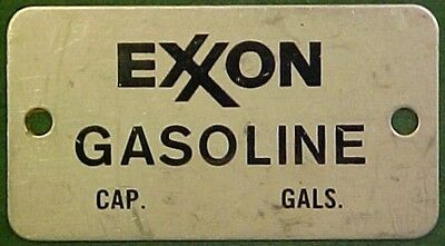 1960's+ Exxon Metal Gasoline Pump Name Plate