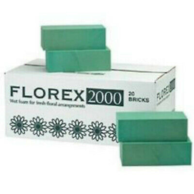 1 box x 20 VAL SPICER Wet Floral Florist Foam Block, Brick Floristry Made In GB