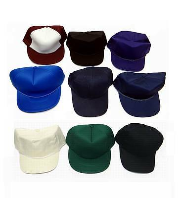 Wholesale lot of 48 Pieces - High Quality Adjustable Blank Baseball Hats
