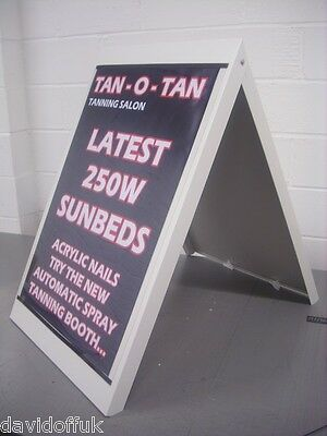 A -Frame Pavement Sign A1 Posters Included Metal Frame Large A-Board Design Mlwp