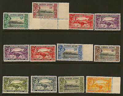SIERRA LEONE : 1938 GVI definitives 1/2d-1/3d ( both 1 1/2d,2d) SG188-96a mint