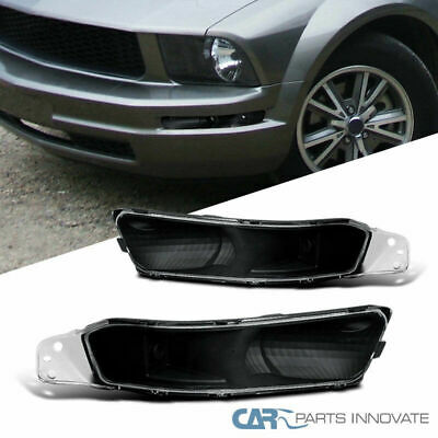 Ford 05-09 Mustang Front Bumper Lights Turn Signal Lamp Black