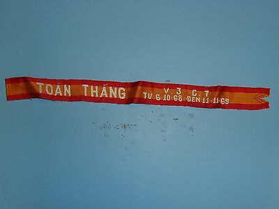 st187 RVN Cross of Gallantry Streamer Ribbon Toan Thang V3 Ct