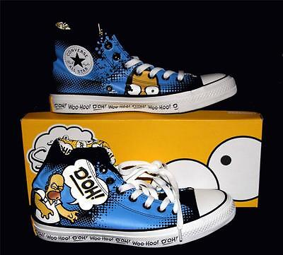 "Converse The Simpsons HOMER ""D'OH! WOO-HOO"" HI TOP Shoes NIB DISC Unisex Sizes"