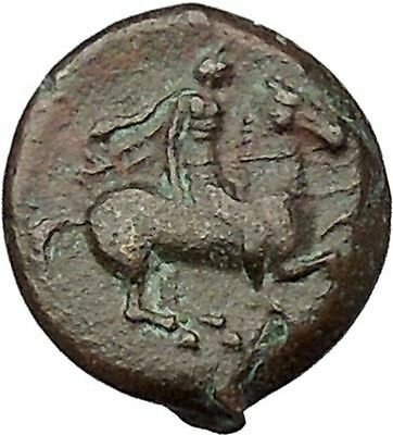 SYRACUSE in SICILY 317BC Agathocles Athena Horseman Ancient Greek Coin i41440