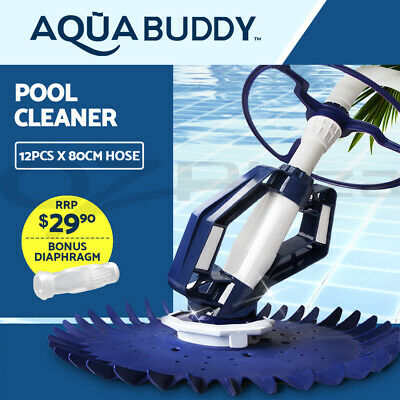 Aquabuddy Swimming Pool Cleaner Floor Climb Wall Automatic Vacuum 10M Hose