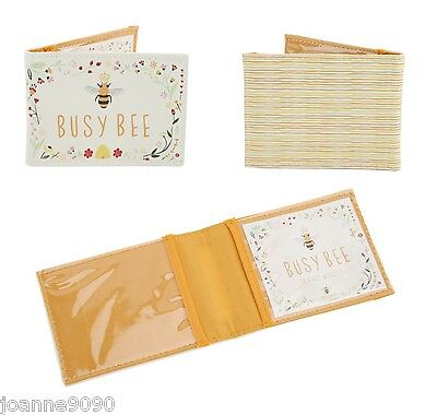 Queen Busy Bee Accessories Floral Gift Travel Card Bus Oyster Pass Wallet Holder