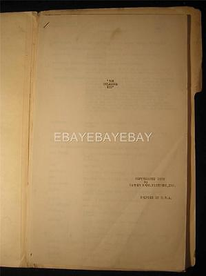 1939 The Oklahoma Kid James Cagney Warner Bros Dialogue Continuity script MS2