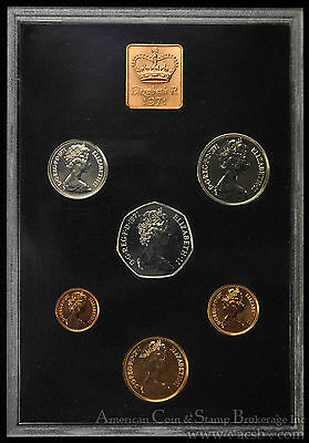 Great Britain 1971 6 Coin + Medal Decimal Proof Set Northern Ireland.