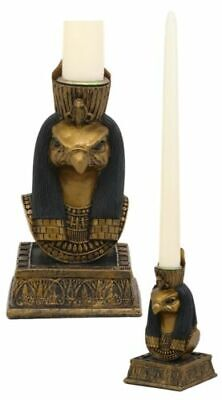 Egyptian God Of The Sky Horus Personification Of Pharaoh Candle Holder Statue