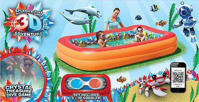 Splash & Play With 3D Images - Interactive Adventure Family Pool (54114)