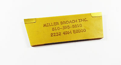 """Miller Broach 1/8"""" TICN Coated Carbide Tipped Cut Off Blade Tool (H504)"""