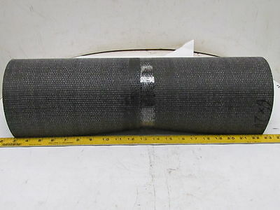 "1-Ply Rough Top Incline Conveyor Belt Rubber Mat 20"" Wide 72"" Long 1/4"" Thick"