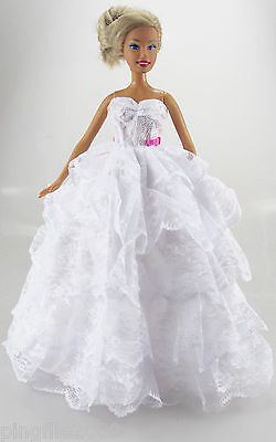 Fashion New Handmade Wedding Clothes/OOAK Outfits For Barbie Doll d831