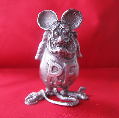 BIG DADDY ROTH  RAT FINK HIGHLY DETAILED SOLID METAL FIGURINE SCULPTURE