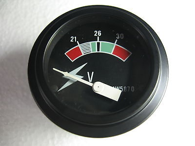 24 Volt Round Panel Meter Gauge for Military Trucks Equipment Caterpillar 4W5870