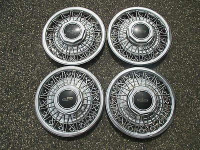 1985 1986 1987 1988 1989 Lincoln Town Car wire spoke hubcaps wheel covers set