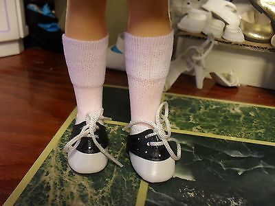 """NIP BLACK & WHITE SADDLE OXFORD SHOES & SOCKS fit 12"""" IDEAL SHIRLEY TEMPLE DOLL"""